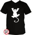 macska póló fal macska fekete