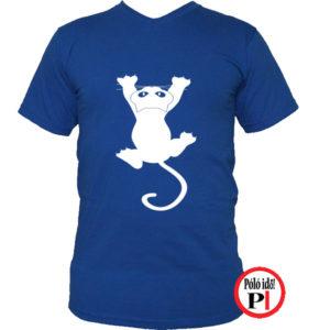 macska póló fal macska kék