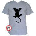 macska póló fal macska szürke