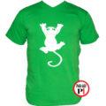 macska póló fal macska zöld