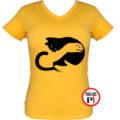macska póló kar női citrom