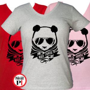 panda póló mad panda női