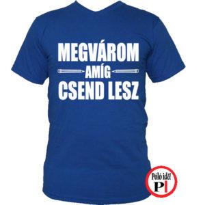 tanár póló megvárom kék