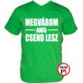 tanár póló megvárom zöld