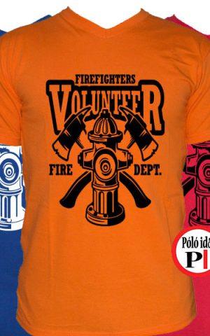 tűzoltó póló volunteer
