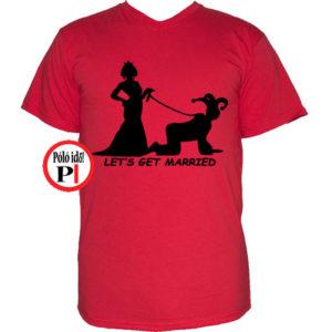 vicces póló married piros