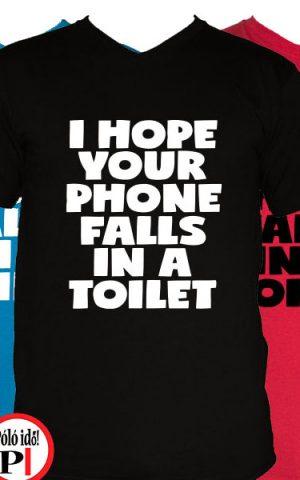 vicces póló toilet phone