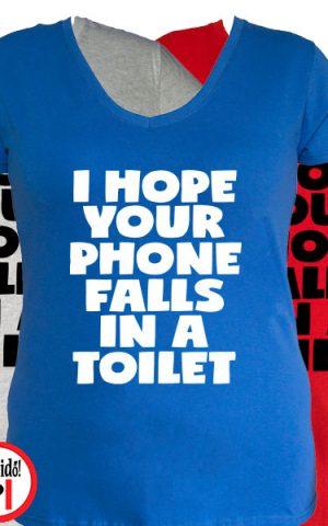 vicces póló toilet phone női