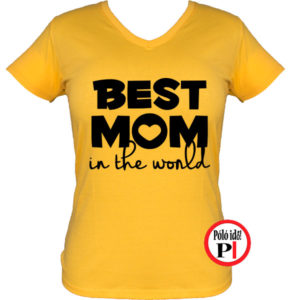 anya póló best mom world citrom