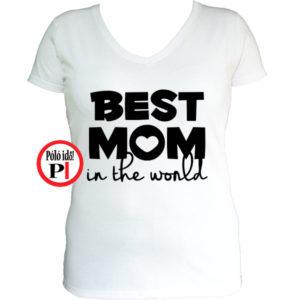 anya póló best mom world fehér
