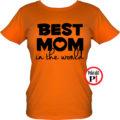 anya póló best mom world narancs