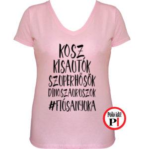 anya póló fiús anya pink