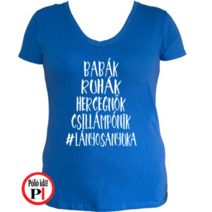 anya póló lányos anya kék