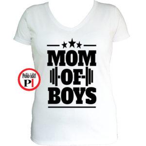 anya póló mom of boys fehér