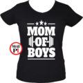 anya póló mom of boys fekete
