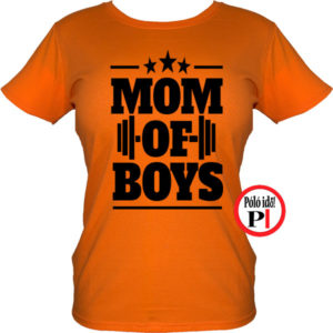 anya póló mom of boys narancs