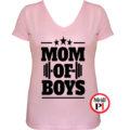 anya póló mom of boys pink