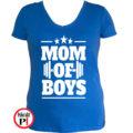 anya póló mom of boys kék