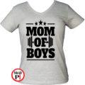 anya póló mom of boys szürke