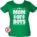anya póló mom of boys zöld