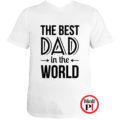 apa póló best dad world fehér
