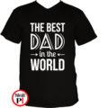 apa póló best dad world fekete