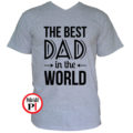 apa póló best dad world szürke
