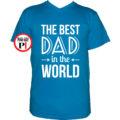 apa póló best dad world vkék
