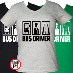 busz póló bus driver női