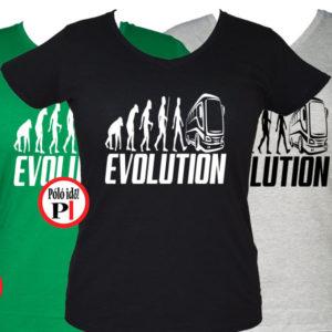 bus póló evolúció női