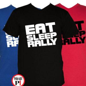 rally póló eat sleep