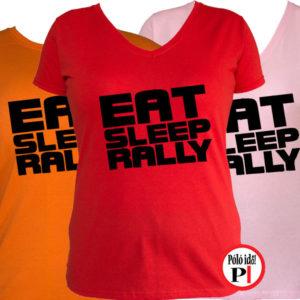 rally póló eat sleep női