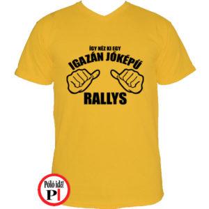 rally póló jóképű citrom