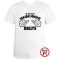 rally póló jóképű fehér