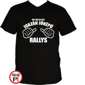 rally póló jóképű fekete