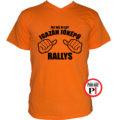 rally póló jóképű narancs