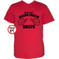 rally póló jóképű piros