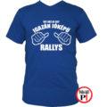 rally póló jóképű kék