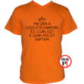 szülinap póló szar narancs