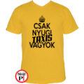 taxi póló csak nyugi sárga