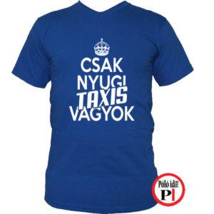 taxi póló csak nyugi kék