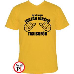 taxi póló jóképű citrom