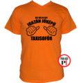 taxi póló jóképű narancs