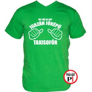 taxi póló jóképű zöld