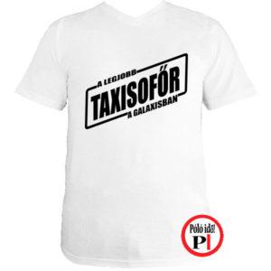 taxi póló legjobb a galaxisban fehér