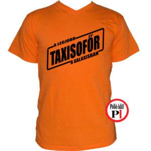 taxi póló legjobb a galaxisban narancs