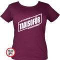 taxi póló legjobb a galaxisban női burgundi