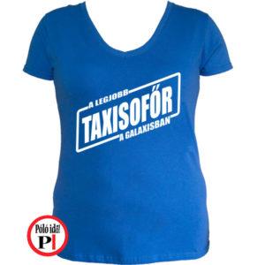 taxi póló legjobb a galaxisban női kék