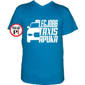 taxi póló legjobb taxis apuka vkék