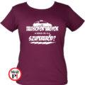taxi póló szupererő női burgundi